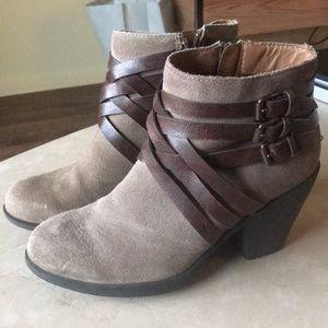 Tan Bootie Heels